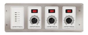 Infratech Three Zone Analog Control With Digital Timer For Electric Heater- 30-4047