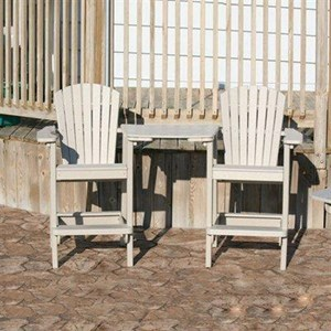 Perfect Choice Furniture Tete-A-Tete Outdoor Bar Set