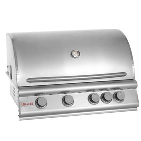 "Blaze 32"" 4 Burner Built In Grill With Rear Burner  - BLZ-4 LP ( Liquid Propane)"