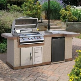 Cal Flame 8 ft. BBQ Island and Side Bar