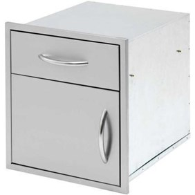 Cal Flame 18 in. Door and Drawer Combo