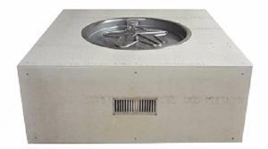 HPC Ready-to-Finish Gas Outdoor Square Fire Feature Push Button Flame Sensing- U45S/FPPK25CEK