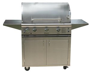 ProFire Professional Deluxe Series Freestanding 36-Inch Built-In  Gas Grill With Rotisserie & SearMagic Grids - PFDLXSM36R + PF36SSCBP