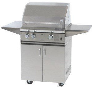 ProFire Professional Series 27-Inch Freestanding Infrared Hybrid  Gas Grill With Rotisserie - PF27RIH + PF27SSCBP