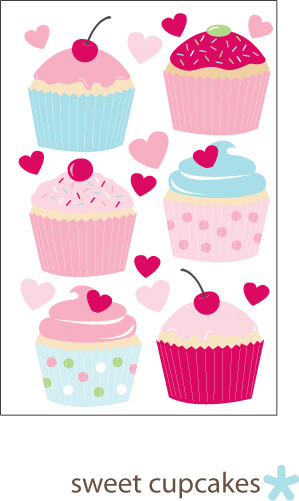 Sweet cupcakes Wall Decal Babylush has a big range of Baby Shower ...