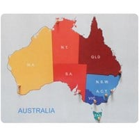 Australia Map Pegged Puzzle