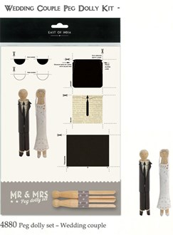 Dolly pegs set wedding couple