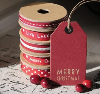 Merry Christmas Label Tags