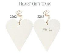 Heart Tag strung with paper string