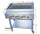 4 Burner Gas Charcoal Char Grill Heavy Duty for Commercial Use EN247