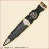 Sgian Dubh - Clan Crested Thistle