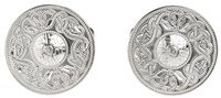 Warrior Shield Cufflinks - Silver