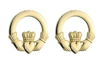 10ct Gold Claddagh Studs