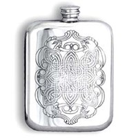 Pewter Celtic Flask