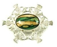 Heathergem Thistle Brooch