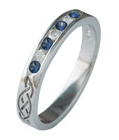 ID327 Eternity Diamonds and Saphires