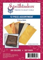 Spellbinders Foils 12 Assorted Sheets Precious Metals FREE SHIPPING