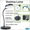 LED Desktop Magnifying Lamp Black