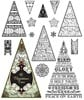 Justrite Clear Stamps Great for Scrapbooking & Cardmaking - O Christmas Tree 15pc
