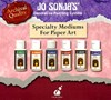 Jo Sonja's Paint Decorative Painting Systems Kit Specialty Mediums for Paper Art x 6 60ml Bottles