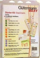 Gutermann Sulky Stabilisers Starter Set - 10 different stabilisers