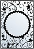 Hobby Solution Embossing Folder mpress Karen Round Frame 1 10.6cm x 15cm FREE SHIPPING