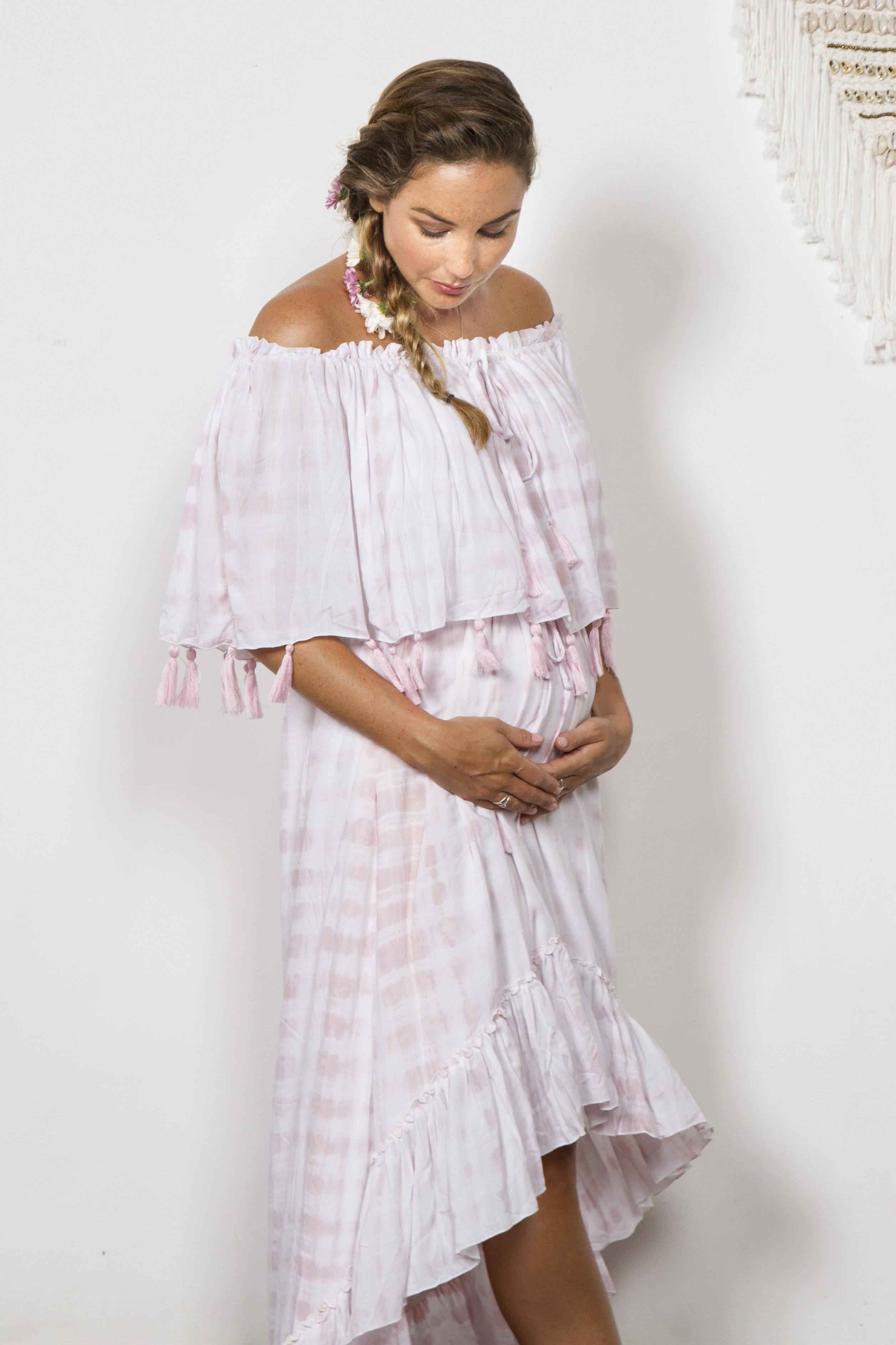 Baby Pink Maternity Dress