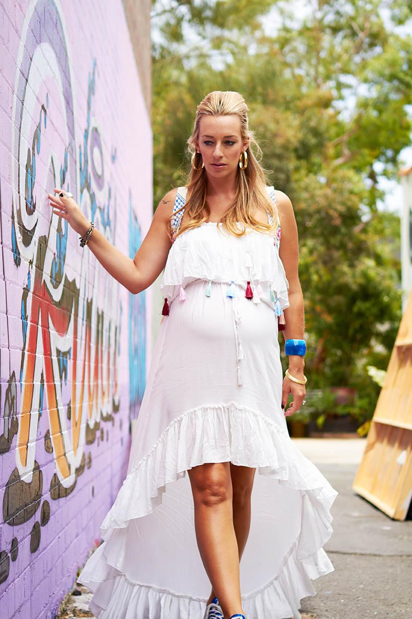 Quot Gypsy Quot Boho Chic Baby Shower Dress White Fillyboo