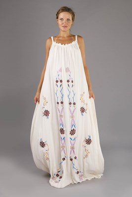 """Bojangles"" Ours Is Love maternity maxi dress with embroidery - Deep cut back in Pink Vanilla"