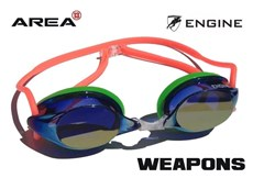 ENGINE WEAPON SWIMMING GOGGLES ORANGE GREEN