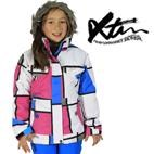 Nisa Girls Winter Ski Snowboard Jacket (Blue/Candy) Size 4 only