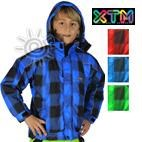 XTM Pixel Transit Kids Ski Jacket (Blue, Red, Green) Sizes 4 **CLEARANCE**