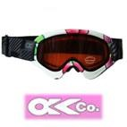 OKco Kids X Ski Goggles (Flowers Print) 3-10 yrs *Also Available in Adult Size*
