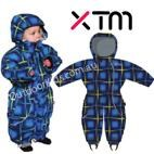 Infant / Baby Papoose One Piece Snow Suit by XTM  (French Blue) Sizes 0-1