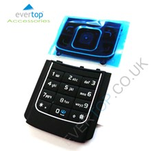 Original Nokia 3G 6288 Replacement Keypad Buttons - Black