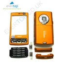 ORANGE Nokia N95 8GB Mobile Phone Fascia / Cover / Full Housing Set with FREE keypads