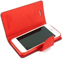 Mercury Fancy Diary Flip Case Cover for Apple iPhone 5 - Black / Red - with Card Slot