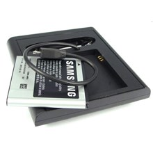 Samsung Galaxy S GT i9000 Dual Desktop Mobile & Battery Charger Dock Sync Stand + Original Battery Pack