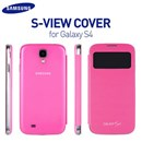 Original Samsung Galaxy S4 i9500 S-View Flip Cover Case in Pink Colour EF-C1950BPEGWW