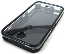 iPhone 4 Plastic Case / Full Front Back & all round Protective Case / Black