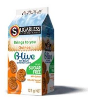 Sugarless Co B-Live chocolate mini biscuits with Quinoa
