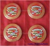 1956 Cadillac Hubcap Medallions - Set of 4