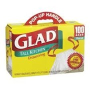 GLAD TALL KITCHEN BAGS 100 CT 1 BOX