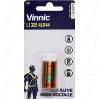 L1325 Vinnic 6V Alkaline Battery replaces 1414A, 28A, 476A, 4AG13, 4G13, 4LR44,