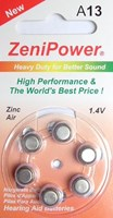 ZeniPower A13 Zinc Air