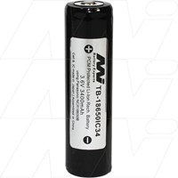 3400mAh 18650 size Lithium Ion Torch Battery (sometimes called 18700)