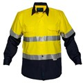 Cotton Drill Shirt lightweight with underarm cool flow mesh & 3M tape