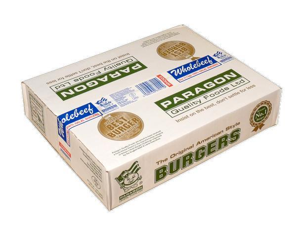 Paragon wholebeef burger 48x tj fast food limited for Paragon fish oil