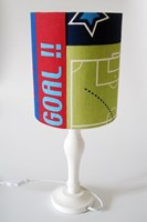 Football trophy player and pitch design fabric lampshade for ceiling or bedside lights
