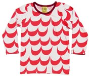 ON SALE More than a Fling Organic tee - Red Waves